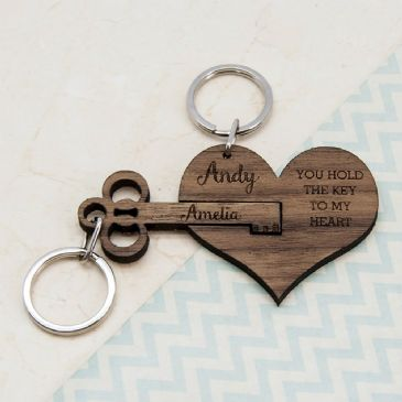 You Hold The Key To My Heart Keyring Set Of Two